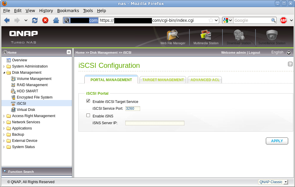 iSCSI Service Enablement