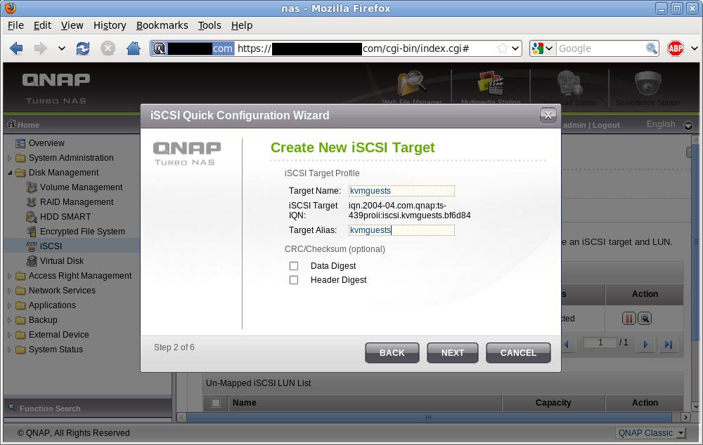 iSCSI target naming